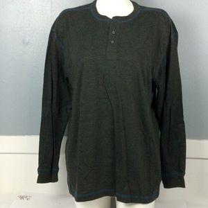 Redhead Mens Gray Long Sleeve Polo Shirt Sz XL